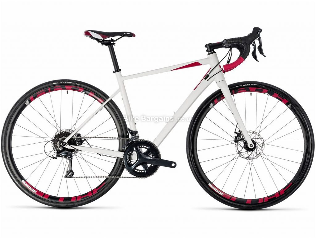 Cube Axial WS Pro Ladies Disc Alloy Road Bike 2018 56cm, White, Red, Alloy, 700c, 10.3kg, 18 Speed, Disc