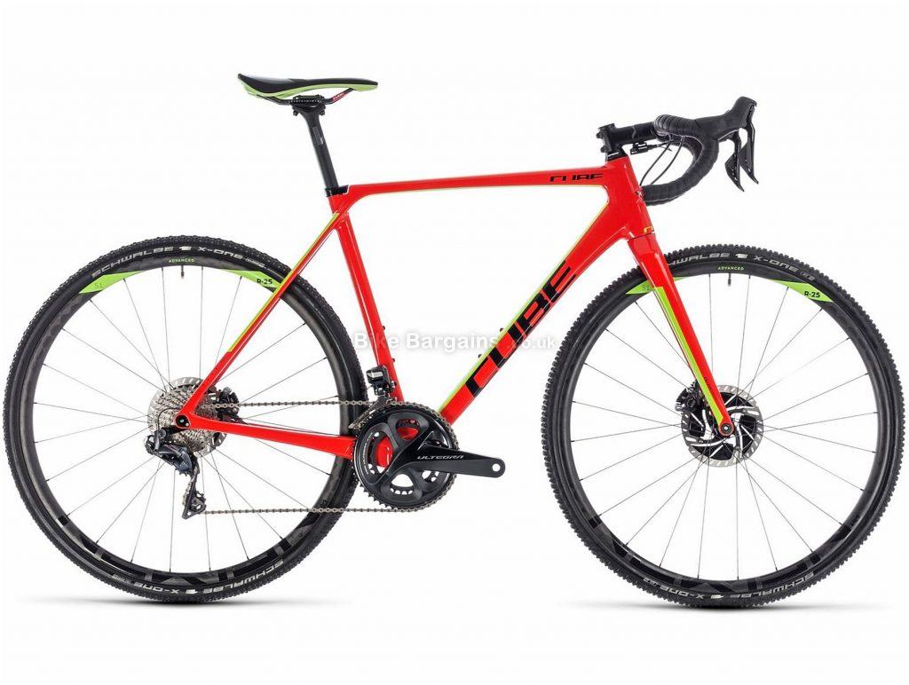 Cube Cross Race C:62 SLT Carbon Cyclo-Cross Bike 2018 58cm, Red, Green, Carbon, 700c, 7.6 kg, 22 Speed