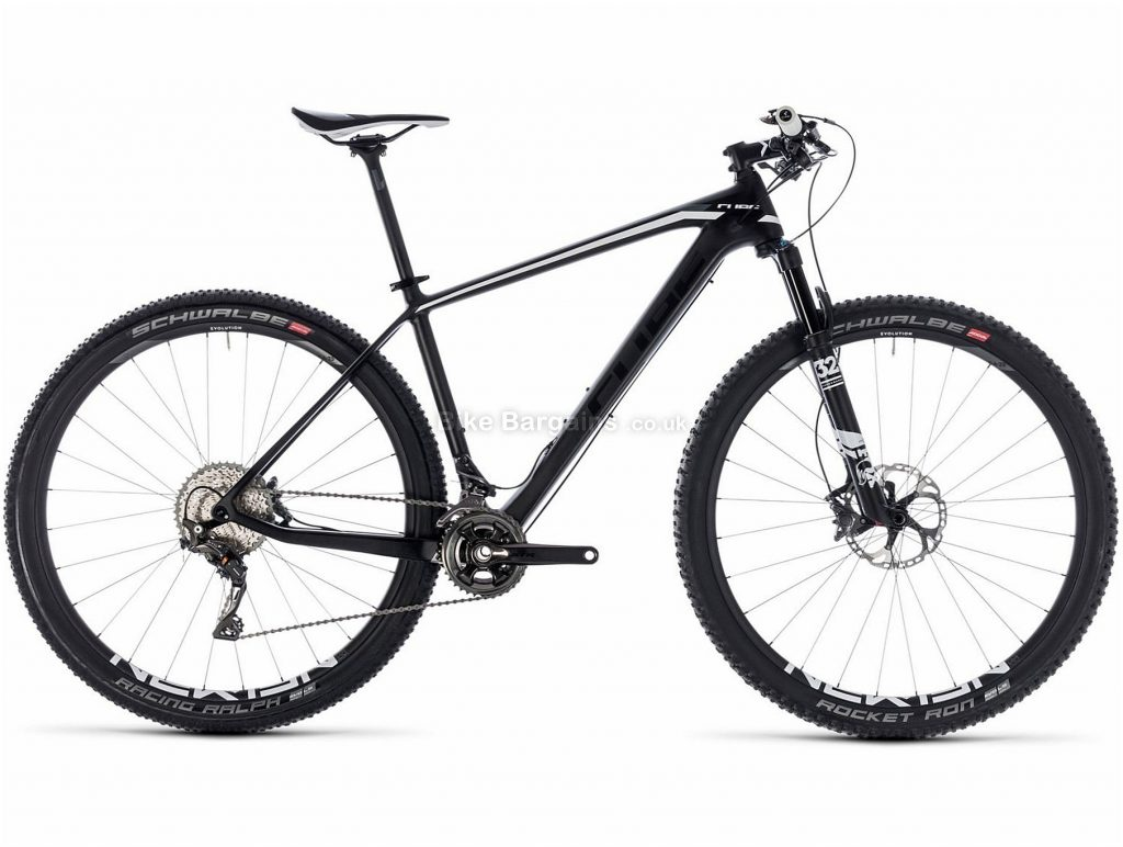 "Cube Elite C:62 29"" Race Carbon Hardtail Mountain Bike 2018 21"", Black, Carbon, 29"", 9.6kg, 22 Speed, 100mm"