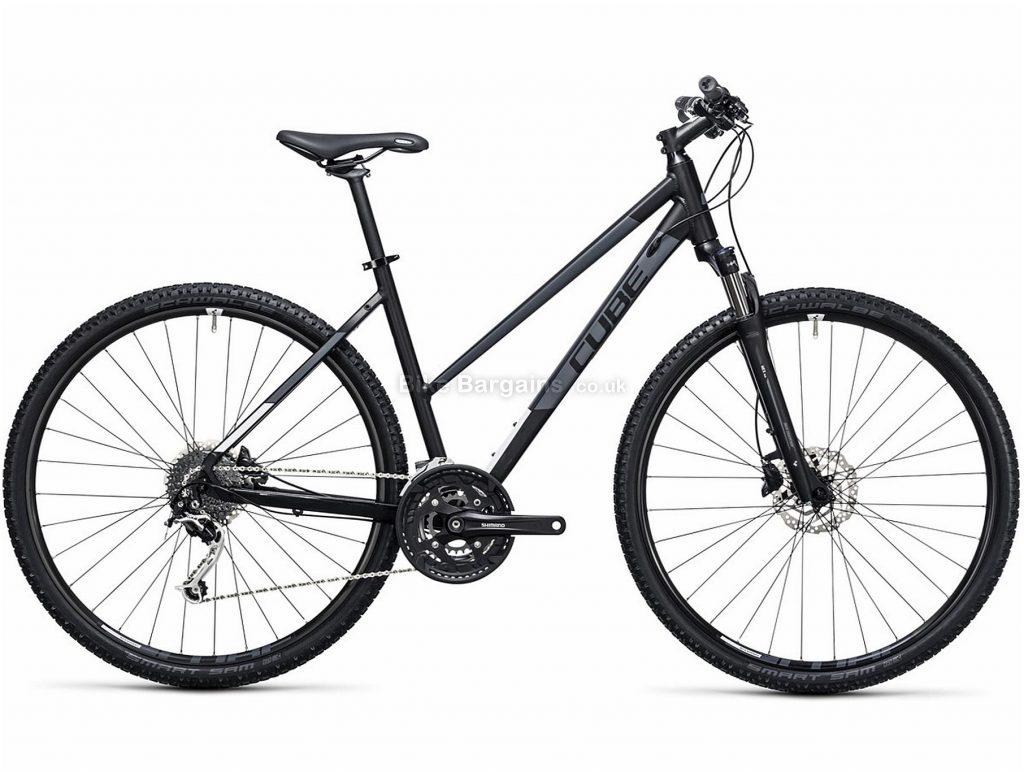 Cube Nature Trapeze Disc Alloy City Bike 2017 54cm, Black, White, Alloy, 700c, 27 Speed, Disc, Hardtail