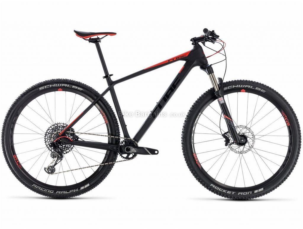 "Cube Reaction C:62 Pro 29"" Carbon Hardtail Mountain Bike 2018 23"", Black, Red, Carbon, 29"", 11.3kg, 12 Speed, 100mm"