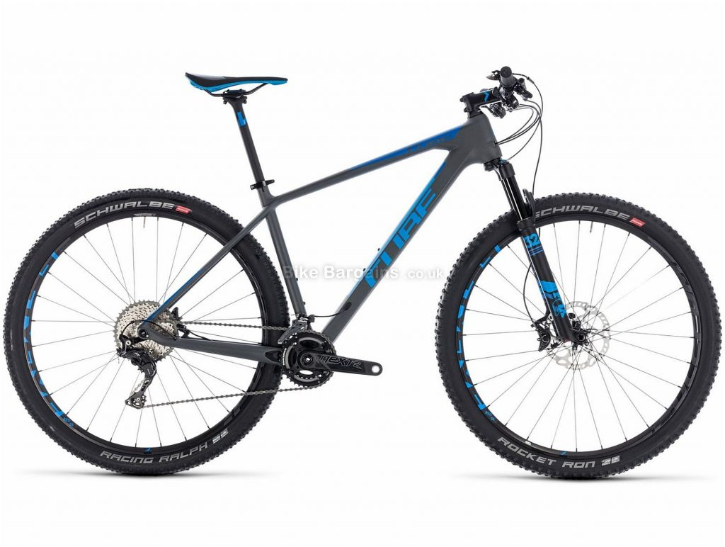 "Cube Reaction C:62 SL 29"" Carbon Hardtail Mountain Bike 2018 21"", Grey, Blue, Carbon, 29"", 10.2kg, 22 Speed, 100mm"