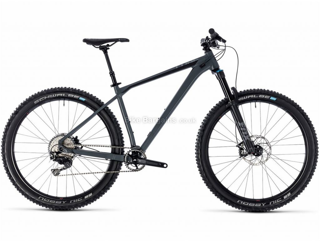 "Cube Reaction TM 27.5 Alloy Hardtail Mountain Bike 2018 27.5"", 18"", Grey, Black, 11 Speed, Alloy, 130mm"