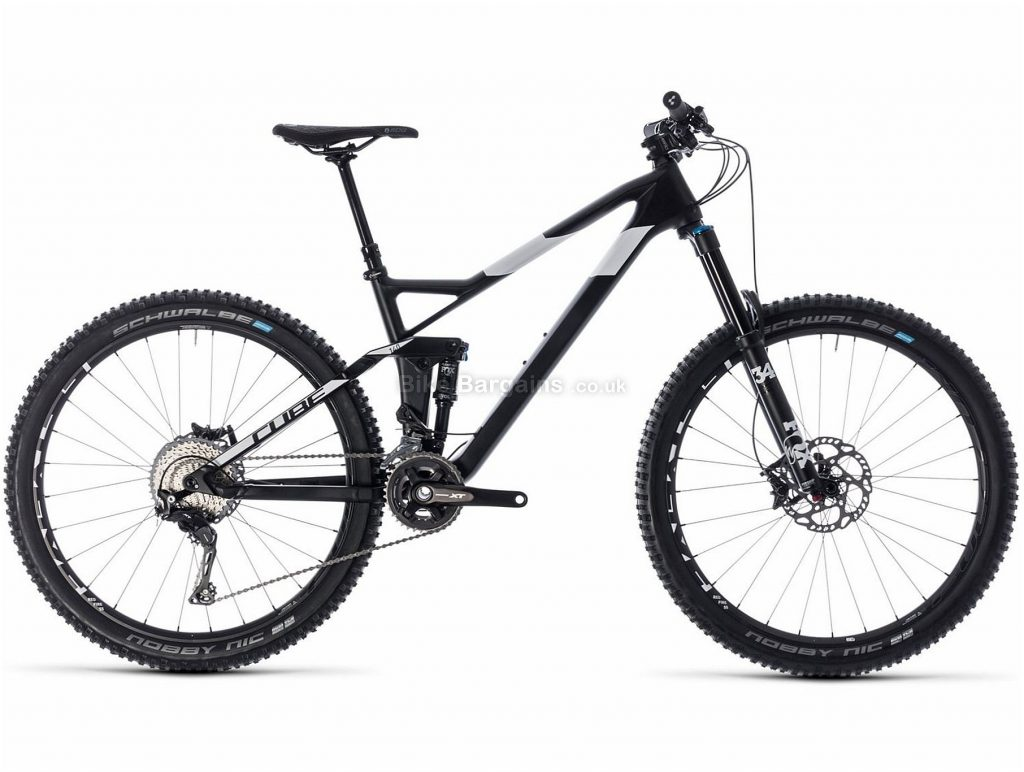 "Cube Stereo 140 HPC SL 27.5"" Carbon Full Suspension Mountain Bike 2018 22"", Black, White, Carbon, 27.5"", 13.5kg, 22 Speed, 150mm, 140mm"