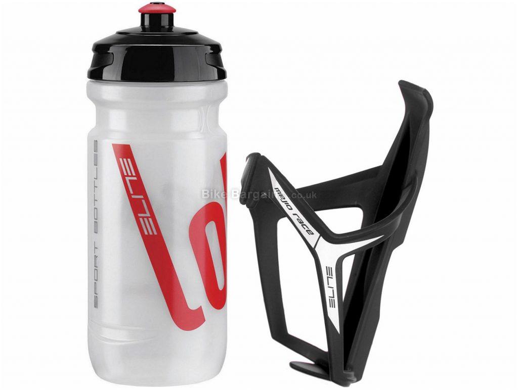 Elite Mejo Water Bottle Cage & Loli Bottle Kit 2016 Black, Transparent, 600ml, 40g
