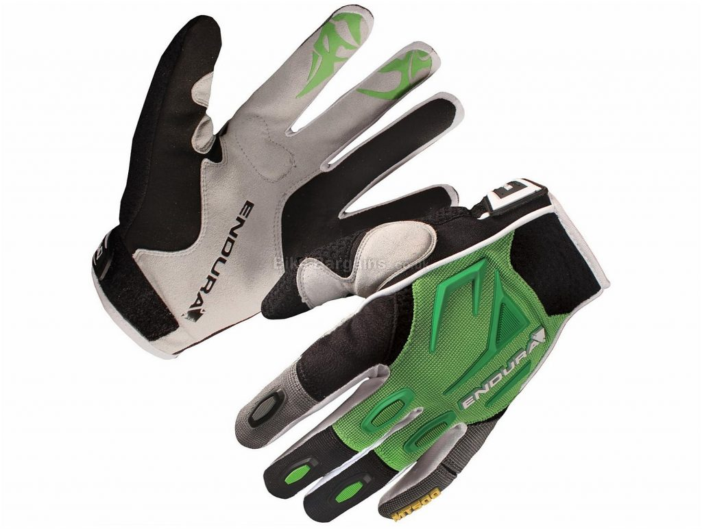 Endura MT500 Full Finger Gloves 2016 S, Green, Full Finger