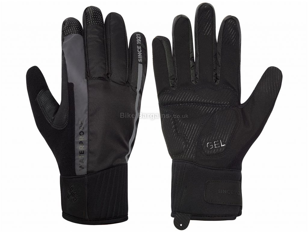 FWE Coldharbour 2.0 Ladies Waterproof Full Finger Gloves Black, XL, Full Finger