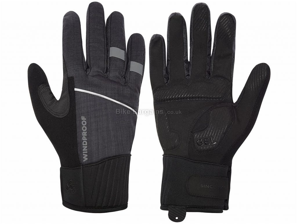 FWE Kennington 2.0 Windproof Full Finger Gloves XL, Black, Full Finger