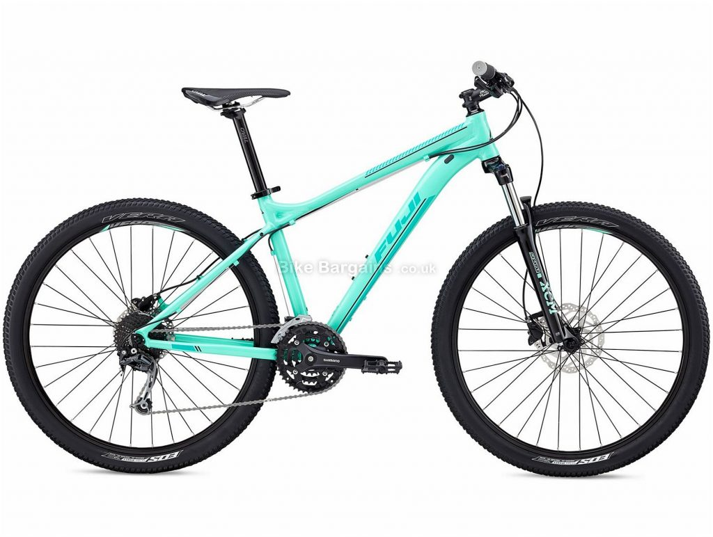 "Fuji Addy 27.5"" 1.5 Ladies Alloy Hardtail Mountain Bike 19"", Green, Alloy, 27.5"", 14.07kg, 27 Speed, 100mm"