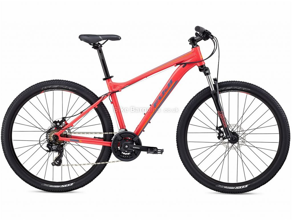 "Fuji Addy 27.5"" 1.9 Ladies Alloy Hardtail Mountain Bike 19"", Red, Alloy, 27.5"", 13.93kg, 21 Speed, 75mm"