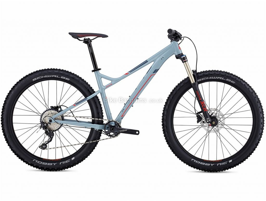 "Fuji Bighorn 27.5""+ 1.7 Alloy Hardtail Mountain Bike 2018 19"", 21"", Grey, Alloy, 27.5"", 13.99kg, 10 Speed, 120mm"