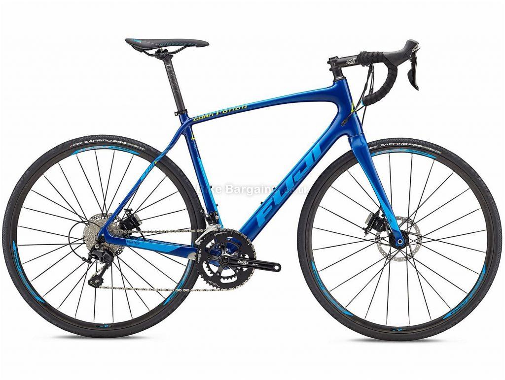 Fuji Gran Fondo 2.3 Disc Carbon Road Bike 2018 52cm, 54cm, 56cm, Blue, Carbon, 700c, 8.99kg, 22 Speed, Disc