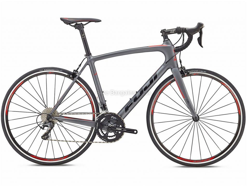 Fuji Gran Fondo Classico 1.1 Carbon Road Bike 2018 53cm, Grey, Black, Carbon, 700c, 8.90kg, 22 Speed, Calipers
