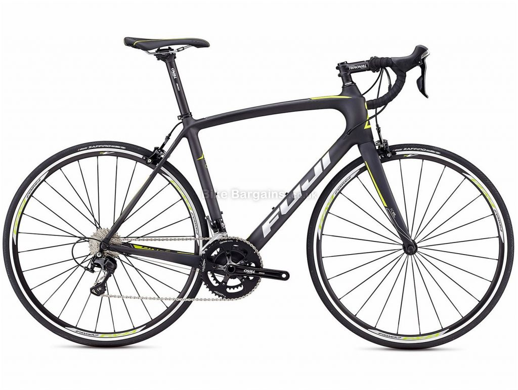 Fuji Gran Fondo Classico 1.3 Carbon Road Bike 2018 50cm, 53cm, Black, Silver, Carbon, 700c, 8.98kg, 22 Speed, Calipers