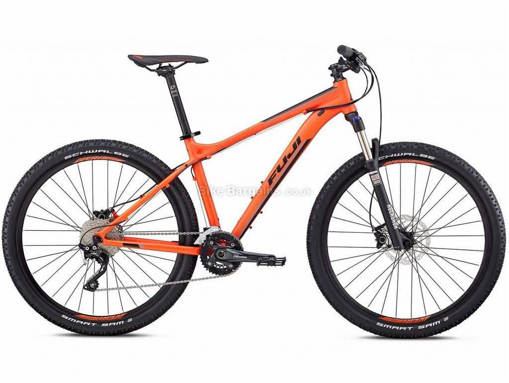 "Fuji Nevada 27.5"" 1.1 Alloy Hardtail Mountain Bike 2018 17"", Red, Alloy, 27.5"", 13.38kg, 20 Speed, 100mm"