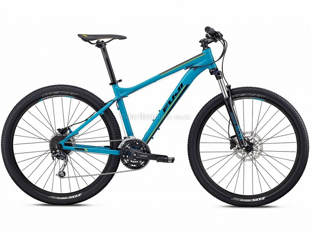 "Fuji Nevada 27.5"" 1.5 Alloy Hardtail Mountain Bike 2018 15"", Blue, Alloy, 27.5"", 14.19kg, 27 Speed, 100mm"