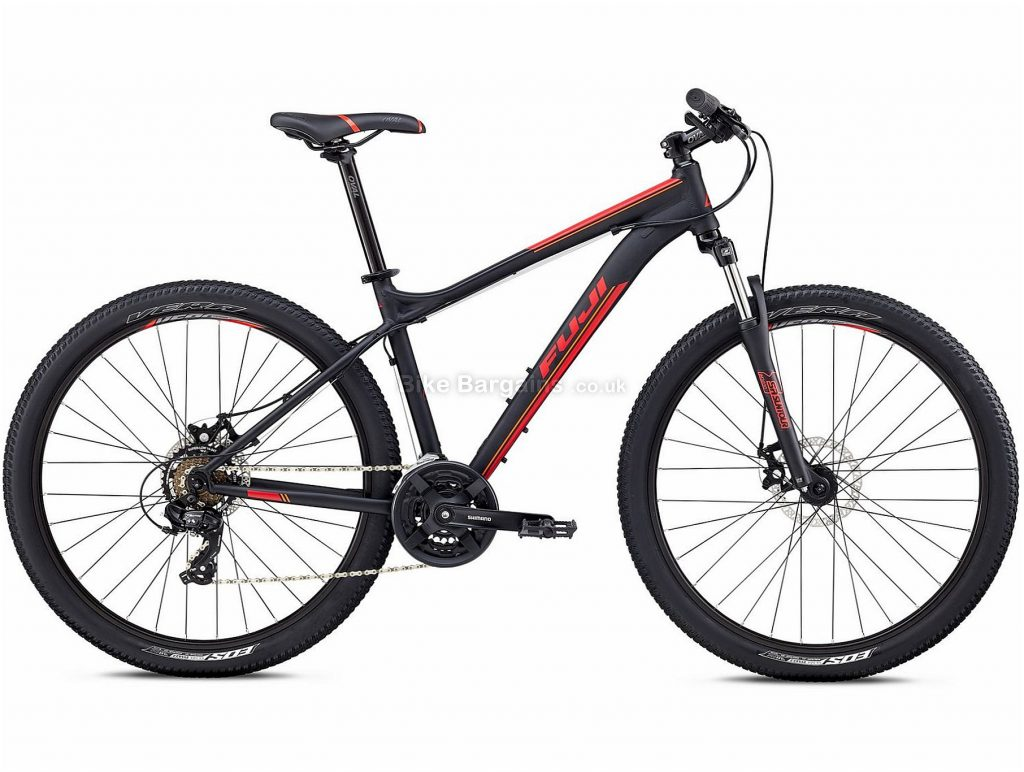 """Fuji Nevada 27.5"""" 1.9 Alloy Hardtail Mountain Bike 2018 19"""", White, Alloy, 27.5"""", 13.97kg, 21 Speed, 75mm"""