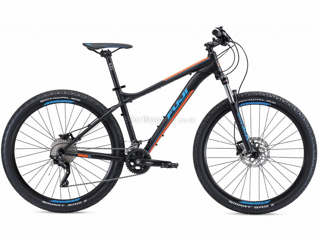 "Fuji Nevada 27.5"" 2.0 Alloy Hardtail Mountain Bike 2018 15"", Black, Orange, Alloy, 27.5"", 20 Speed, 100mm"