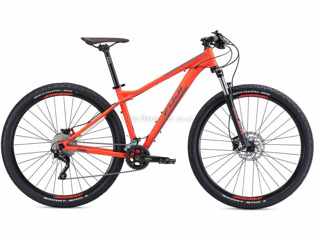 "Fuji Nevada 29 2.0 Alloy Deore Hardtail Mountain Bike 2018 21"", Orange, 29"", Hardtail, Alloy, 10 speed"