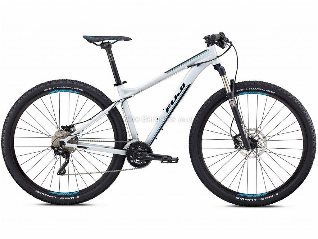 "Fuji Nevada 29"" 1.1 Alloy Hardtail Mountain Bike 2018 21"", Grey, Red, Alloy, 29"", 14.15kg, 20 Speed, 100mm"