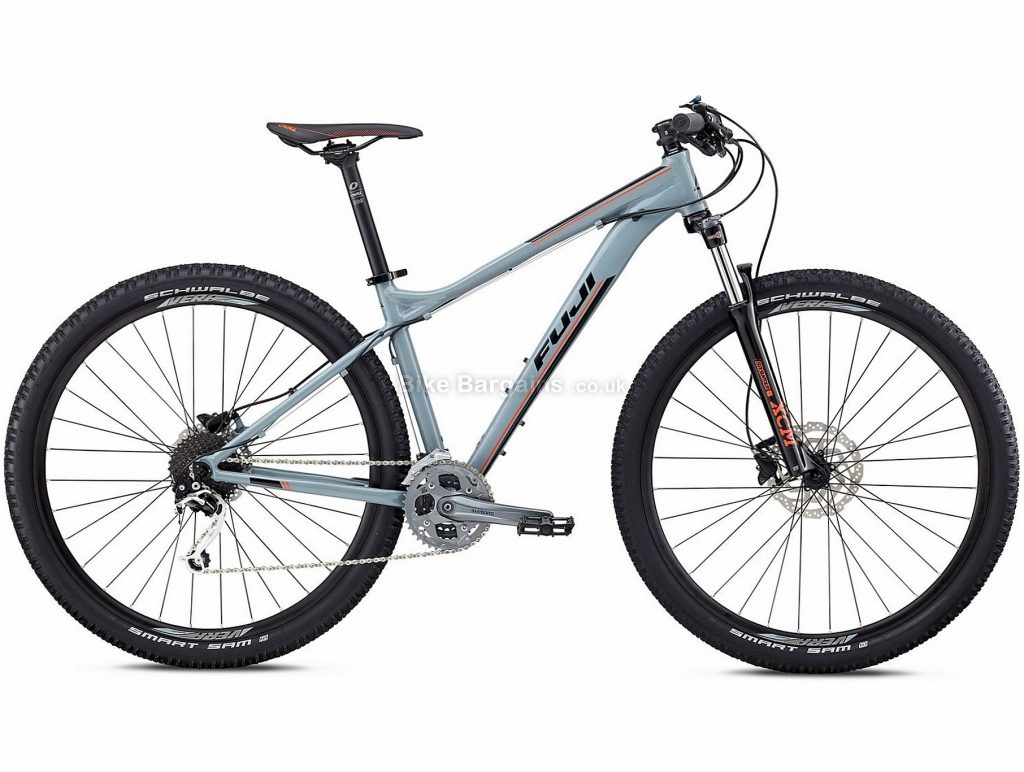 "Fuji Nevada 29"" 1.3 Alloy Hardtail Mountain Bike 2018 21"", Grey, Alloy, 29"", 14.5kg, 27 Speed, 100mm"