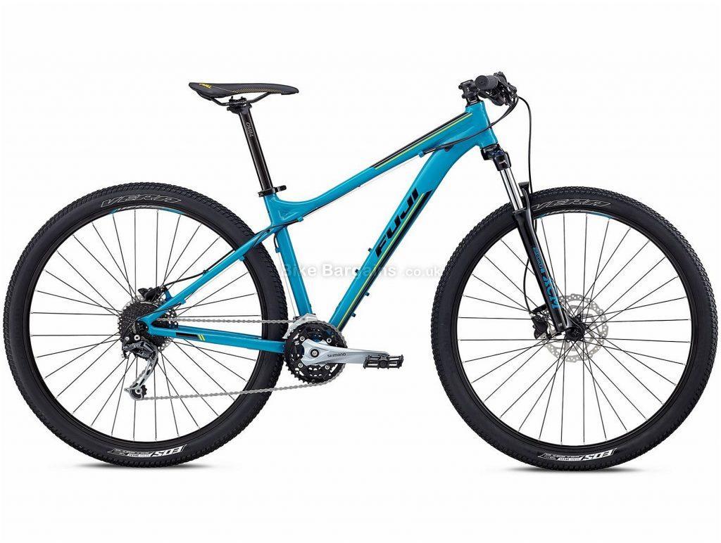 "Fuji Nevada 29"" 1.5 Alloy Hardtail Mountain Bike 2018 17"", Black, Blue, Alloy, 29"", 14.47kg, 27 Speed, 100mm"