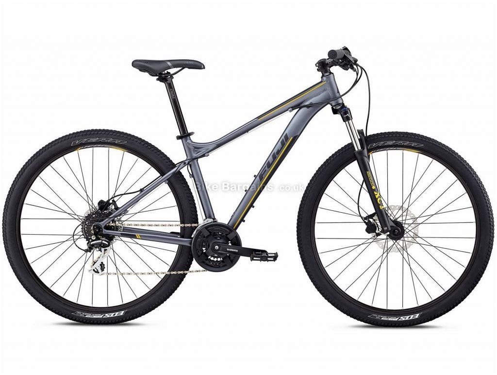 "Fuji Nevada 29"" 1.7 Alloy Hardtail Mountain Bike 2018 17"", Grey, Alloy, 29"", 14.60kg, 24 Speed, 100mm"