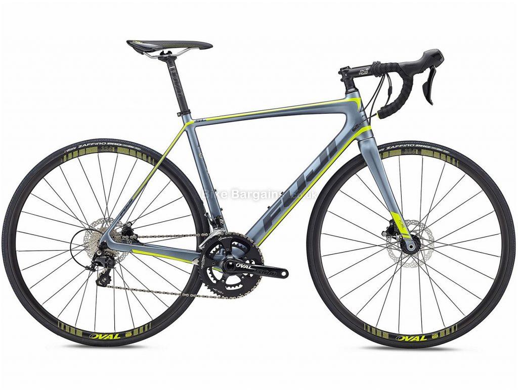 Fuji SL 2.3 Disc Carbon Road Bike 2018 52cm, Silver, Carbon, 700c, 8.76kg, 22 Speed, Disc