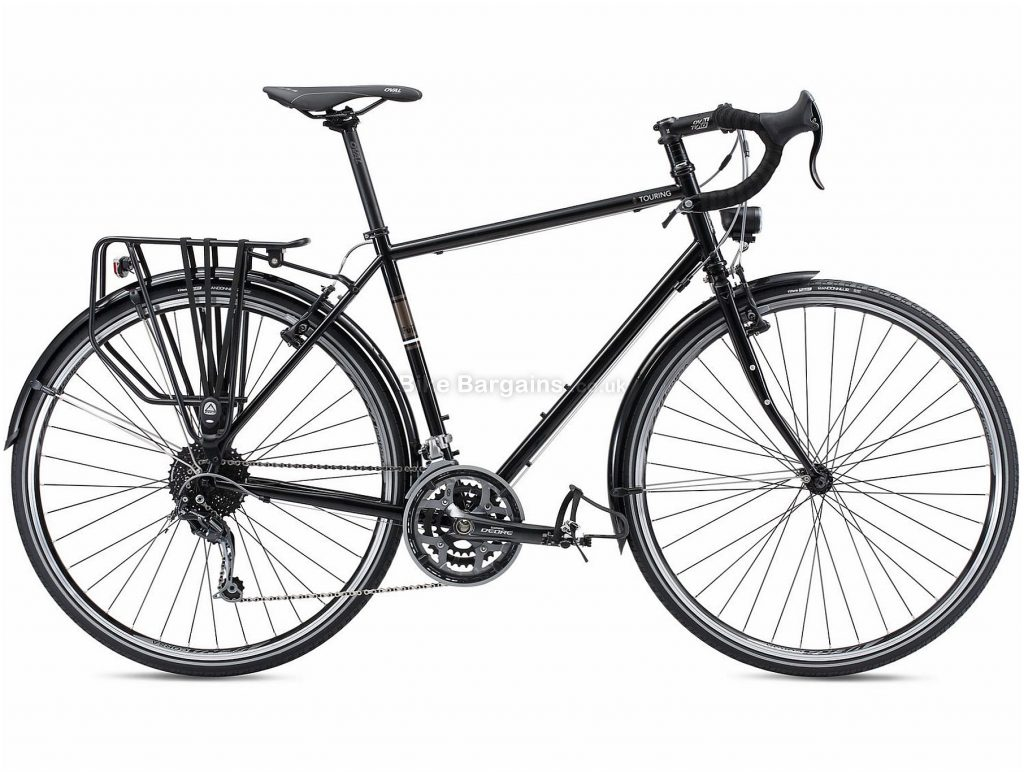 Fuji Touring Steel Road Bike 2018 49cm, Black, Blue, 700c, Caliper Brakes, Steel, 27 speed, 13.08kg