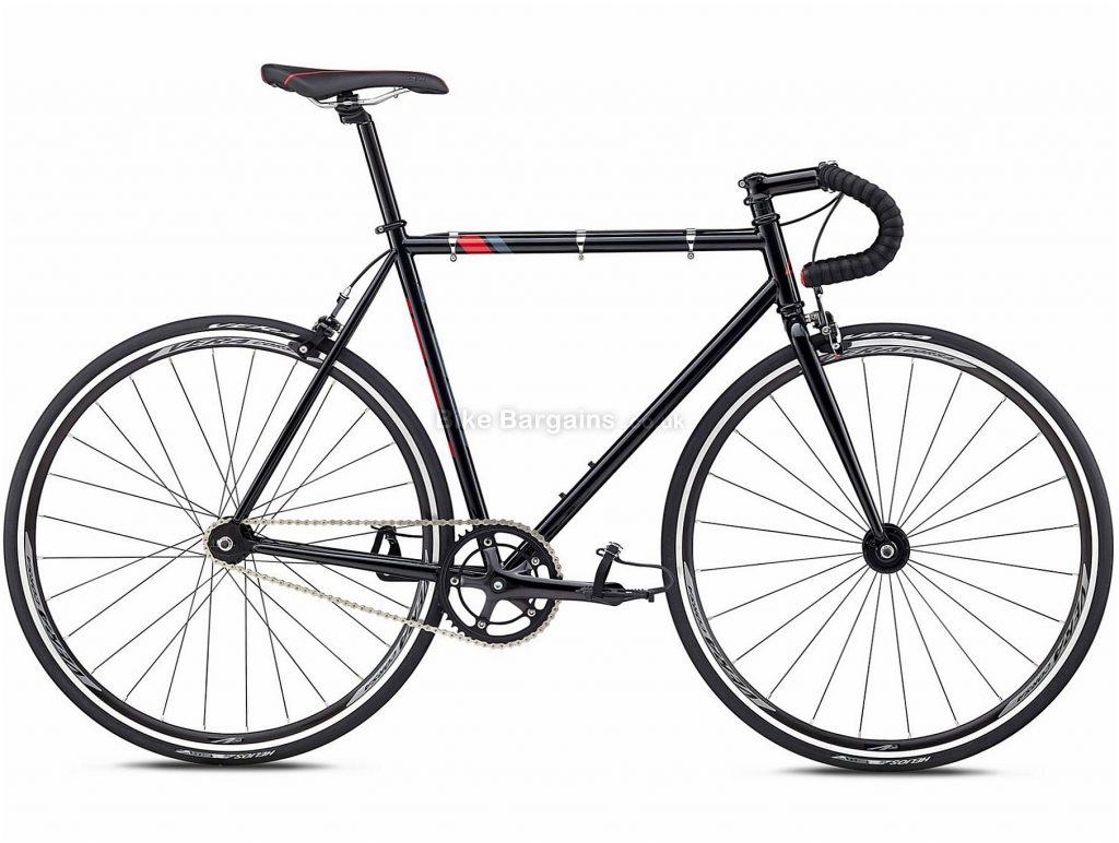 Fuji Track 650 Steel Bike 2018 43cm, Black, Red, Steel, 650c, 10.07kg, Single Speed, Calipers