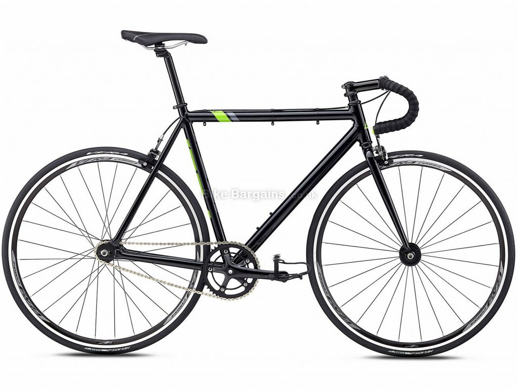 Fuji Track Comp Steel Road Bike 2018 49cm, Black, Green, Steel, 700c, 9.79kg, Single Speed, Calipers