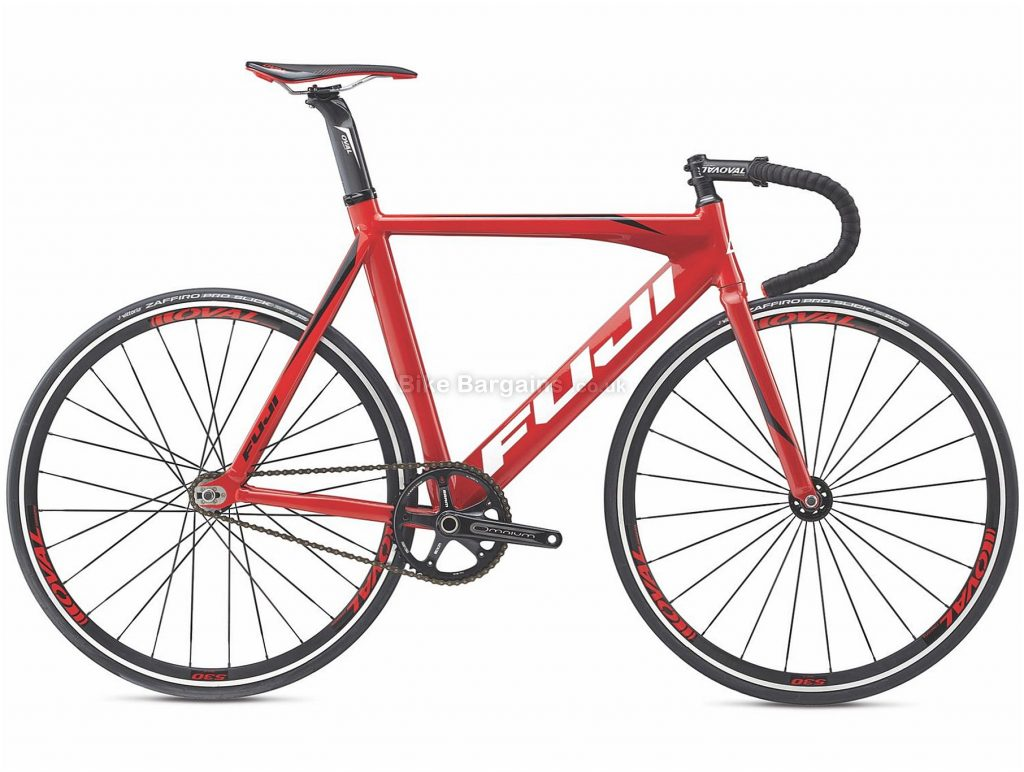Fuji Track Pro INTL Steel Road Bike 2017 58cm, Black, Red, Steel, 700c, 7.64 kg, Single Speed, Calipers