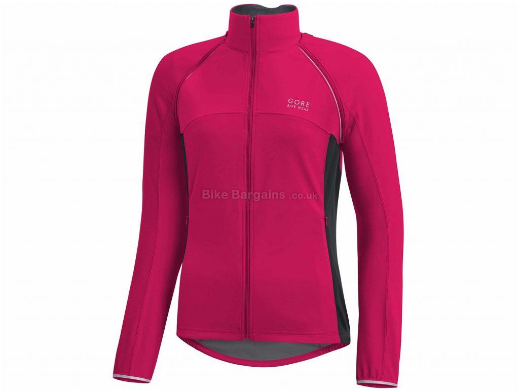 Gore Bike Wear Phantom Ladies Plus Windstopper Jacket 34, Pink, Long Sleeve