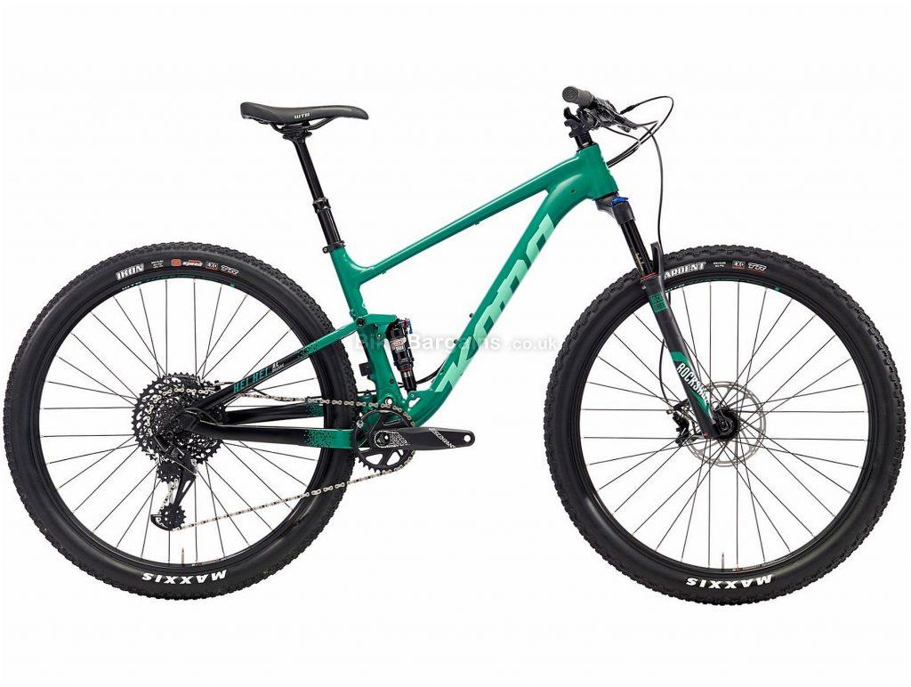 """Kona Hei Hei AL/DL 29"""" Alloy Full Suspension Mountain Bike 2018 M, Green, Alloy, 29"""", 12 Speed, 120mm, 100mm"""