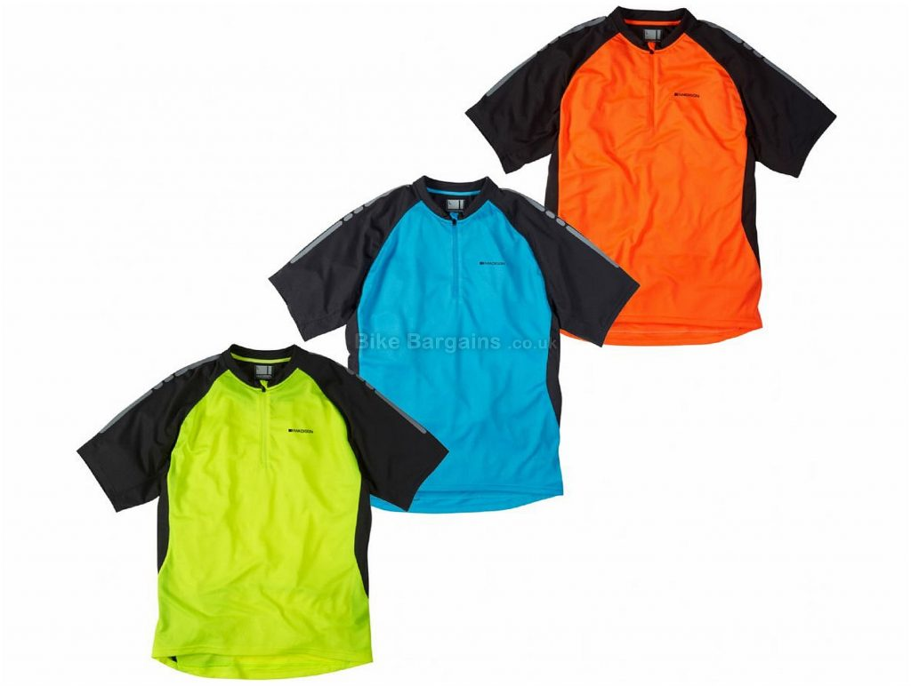 Madison Stellar Short Sleeve Jersey 2018 S, Blue, Black, Short Sleeve