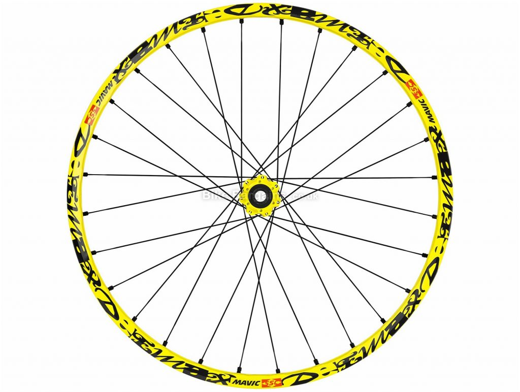 "Mavic Deemax Ultimate MTB Front Wheel 2017 27.5"", Yellow, Alloy"