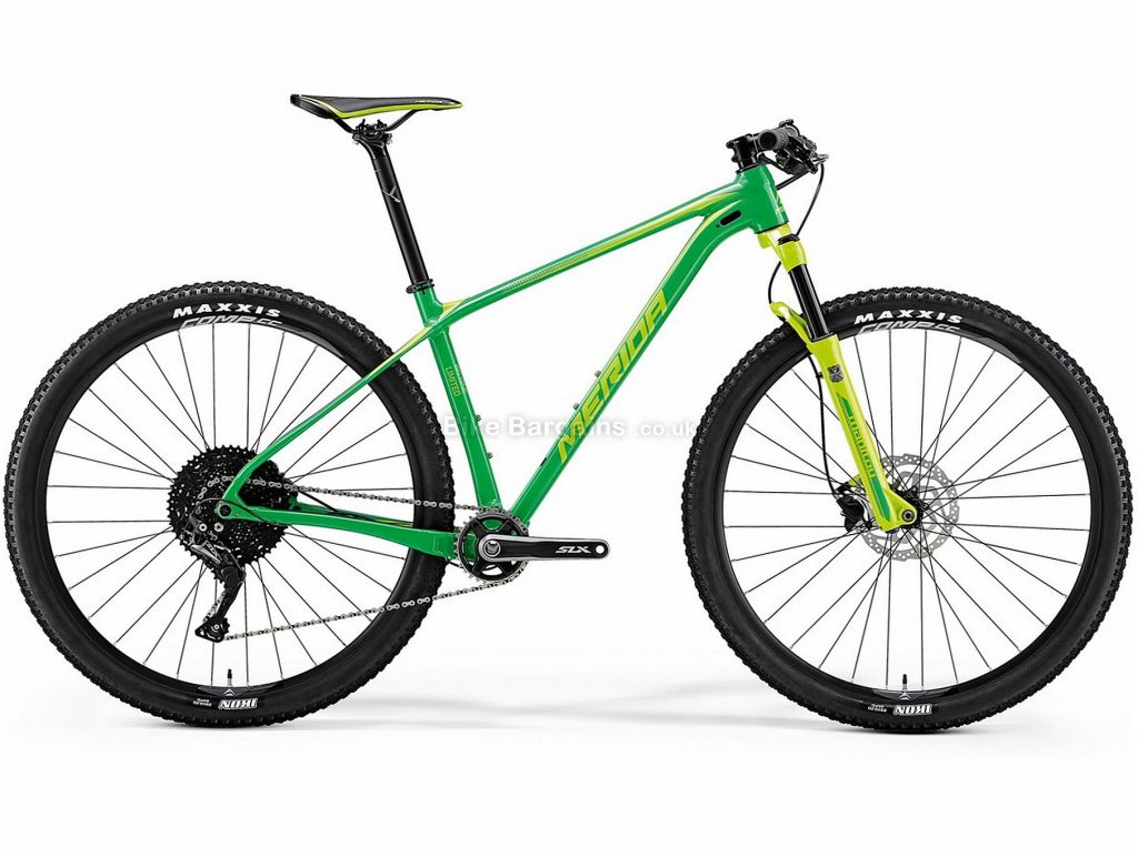 "Merida Big Nine Limited 29er Alloy Hardtail Mountain Bike 2018 L, Green, Yellow, Alloy, Hardtail, 29"", 11 Speed"