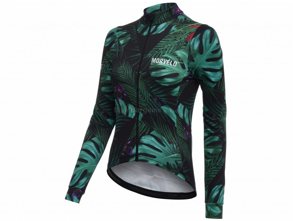 Morvelo Ladies Winter Jungle Long Sleeve Jersey 2019 XS,L,XL,XXL, Green, Long Sleeve