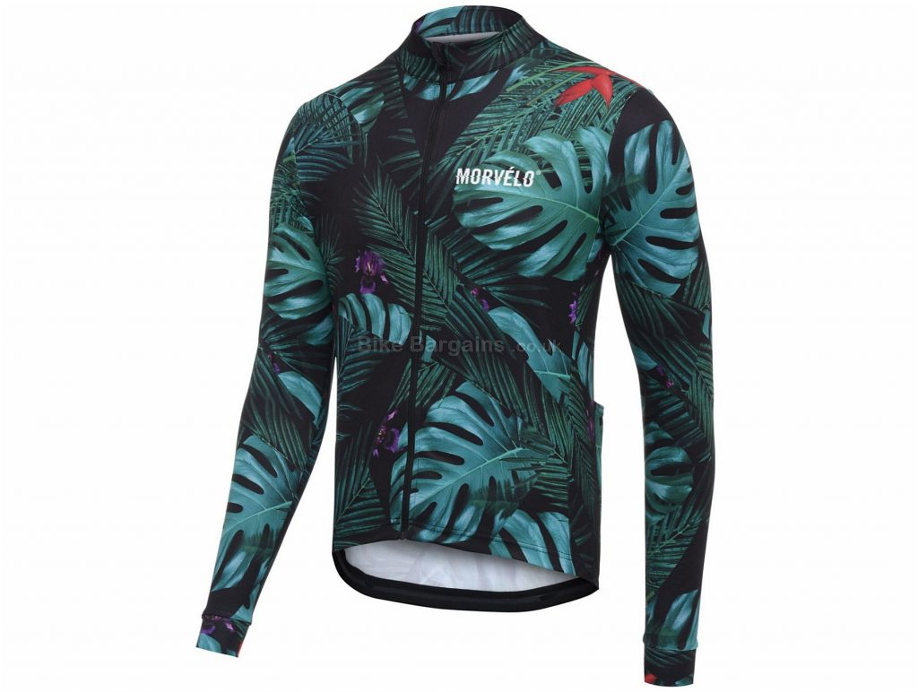 Morvelo Winter Jungle Long Sleeve Jersey 2019 XS,M,L,XL,XXL, Green, Long Sleeve
