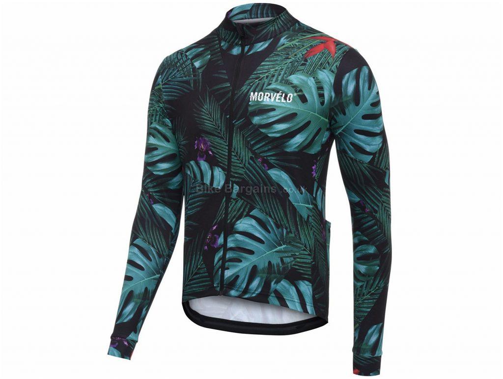 Morvelo Winter Jungle Long Sleeve Jersey 2019 XS,M,L,XL,XXL, Green, Long Sleeve