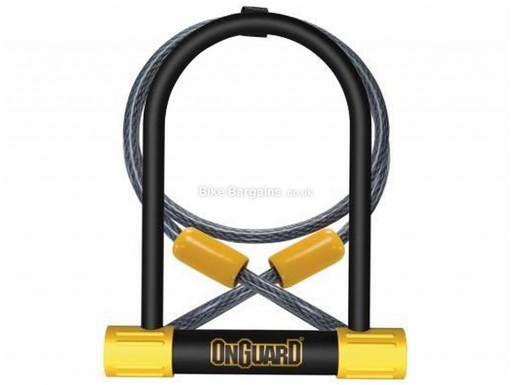 OnGuard Bulldog Mini DT U-Lock with Cable 120cm, 140mm, 90mm, 13mm, Black, Yellow, Steel