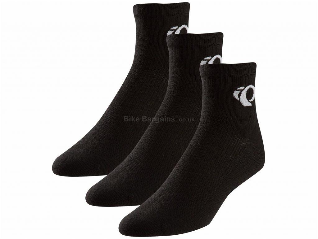 Pearl Izumi Attack Socks Triple Pack M, Black, 3 pack