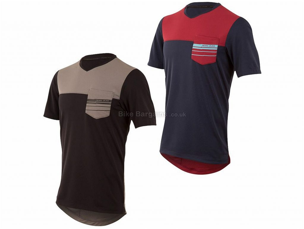 Pearl Izumi Divide Short Sleeve Top 2017 S, Blue, Red, Short Sleeve