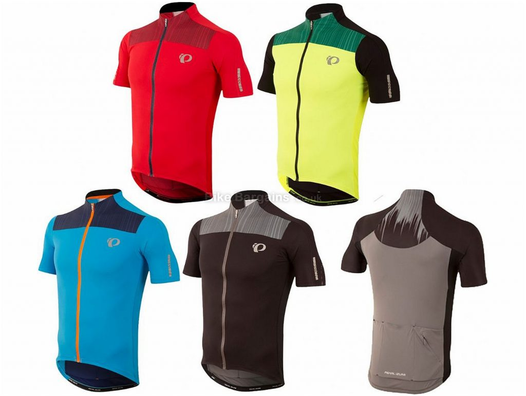 Pearl Izumi Elite Pursuit Short Sleeve Jersey 2017 M, Blue, Black, Yellow, Red, Short Sleeve