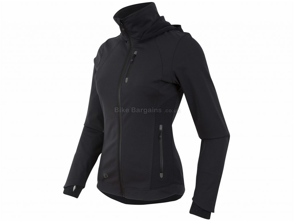 Pearl Izumi Escape Ladies Windproof Softshell Zip-up Hoody XS,S, Black, Long Sleeve