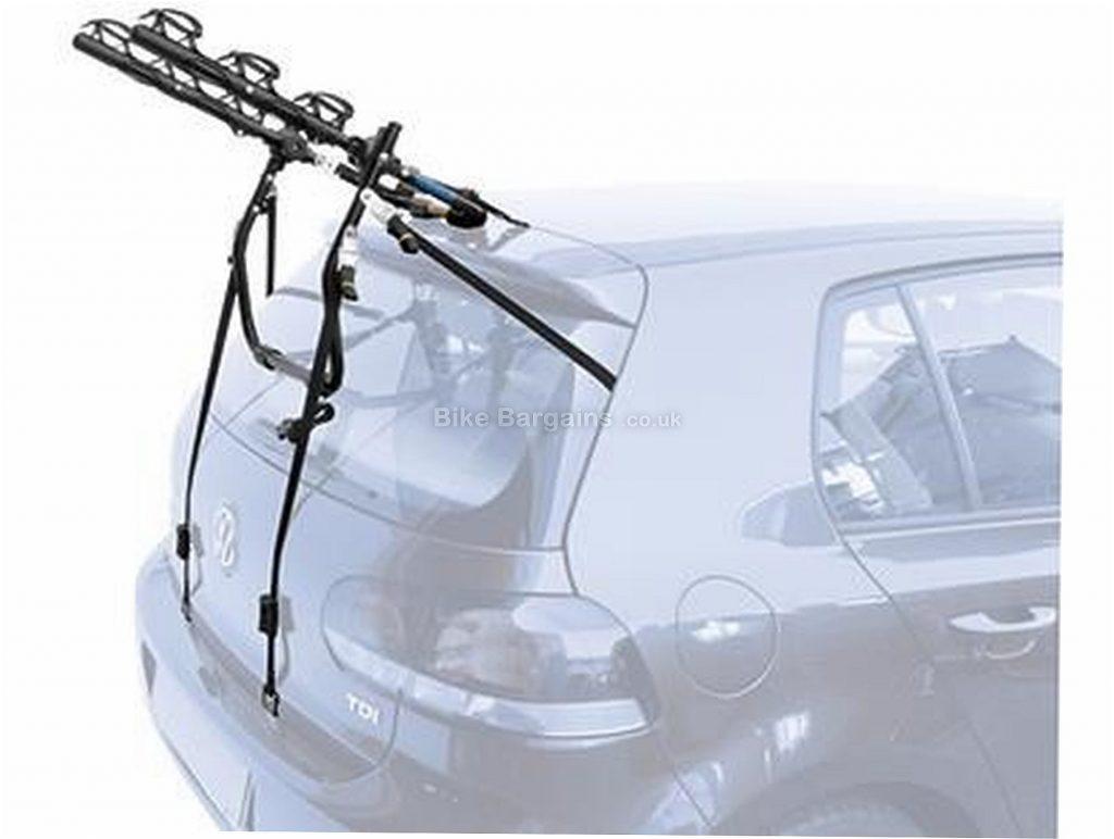 Peruzzo Cruiser Delux Boot Fitting 3 Bike Car Rack 3 Bikes, Black, up to 45kg