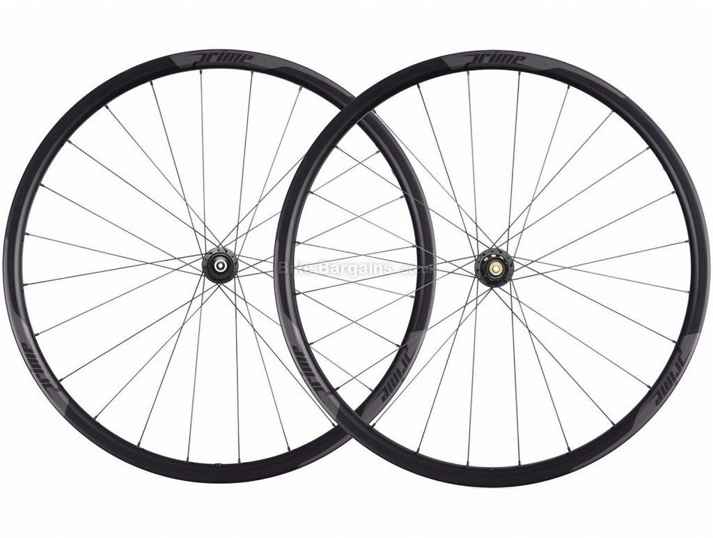 Prime RR-28 Carbon Clincher Disc Road Wheels 700c, Black, Disc, Centre Lock, Carbon, 1634g