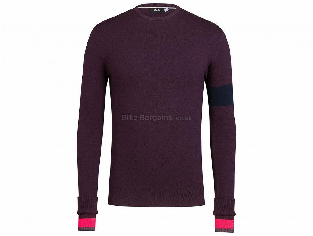 Rapha Crew Neck Long Sleeve Knit S, Purple