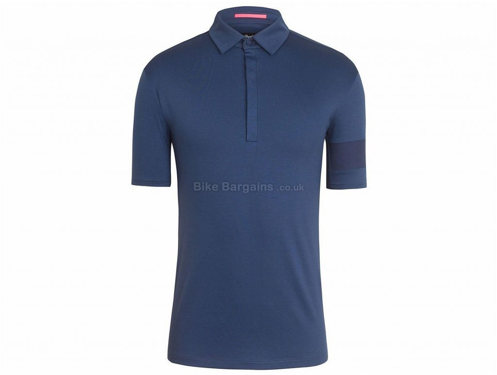 Rapha Essential Short Sleeve Polo XS, Blue, Pink