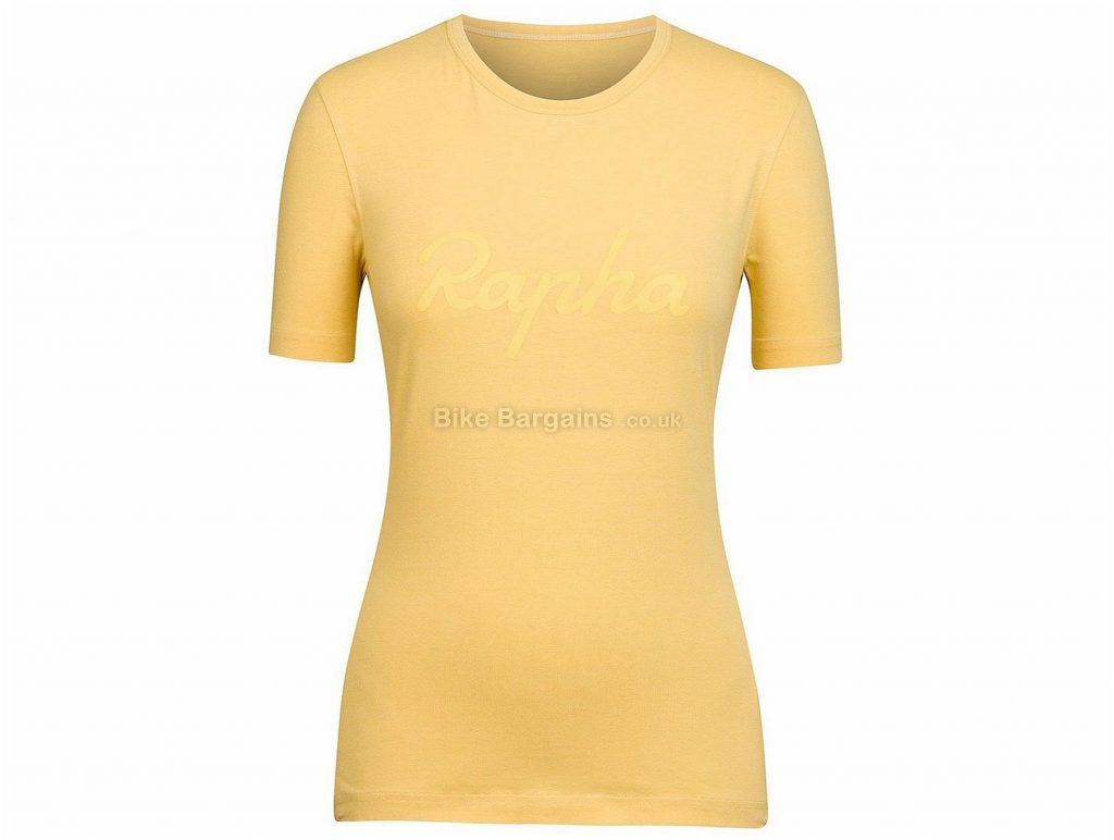 Rapha Ladies Logo Short Sleeve T-Shirt 2014 XXS, XL, Yellow